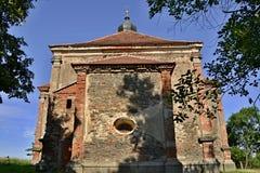 De kerk ruïneert St Barbora in het westen Czechia Royalty-vrije Stock Afbeelding