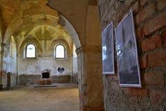 De kerk ruïneert St Barbora in het westen Czechia Royalty-vrije Stock Fotografie