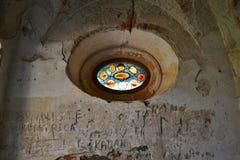 De kerk ruïneert St Barbora in het westen Czechia Royalty-vrije Stock Afbeeldingen