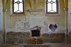De kerk ruïneert St Barbora in het westen Czechia Stock Foto