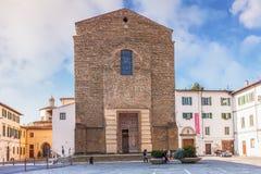 De kerk is Santa Maria del Carmine, beroemd als plaats van stock afbeeldingen