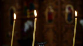 De kerk schouwt dicht omhoog stock video