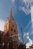 De kerk St. Petri in Hamburg, Duitsland Royalty-vrije Stock Foto's