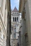 De Kerk St Pierre Cathedral van Genève Stock Foto
