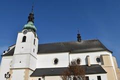 De kerk in Svitavy, Tsjechische Republiek Stock Foto