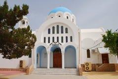 De kerk van Agioianargyroi, Skala Royalty-vrije Stock Afbeeldingen