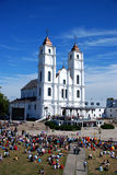 De kerk van Aglona, Letland royalty-vrije stock afbeelding