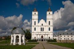 De kerk van Aglona in Letland royalty-vrije stock afbeeldingen
