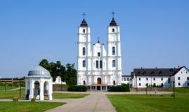 De kerk van Aglona in Letland Stock Afbeelding