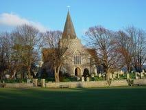 De Kerk van Alfriston, Alfriston, Oost-Sussex royalty-vrije stock afbeelding