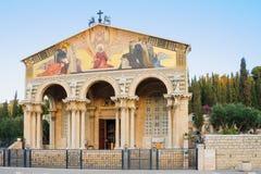 De kerk van Alle Naties stock foto's