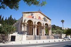 De kerk van Alle Naties, Jeruzalem, Israël royalty-vrije stock fotografie