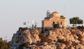 De kerk van Ayiosnikolaos, Protaras Stock Afbeeldingen