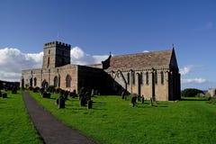 De Kerk van Bamburgh Stock Afbeeldingen