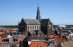 De kerk van Bavo in Haarlem Stock Afbeeldingen