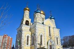 De Kerk van bogoroditsi van Pokrova Presvyatoy in Vladivostok royalty-vrije stock foto's