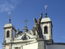 De kerk van Bom Jesus do Matozinhos in Congonhas, staat van Min Stock Fotografie