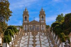 De kerk van Bomjesus in Braga - Portugal stock foto