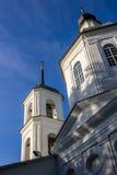 De Kerk van Boris en Gleb van de 18de eeuw in het dorp van Belkino stock foto's