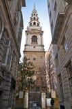 De kerk van bruiden in de straat van de Vloot royalty-vrije stock foto