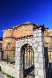 De kerk van Byzantium van St Sofia in Ohrid stock afbeelding