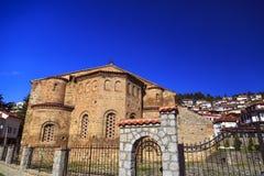 De kerk van Byzantium van St Sofia in Ohrid stock fotografie