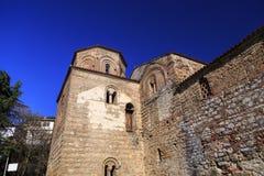 De kerk van Byzantium van St Sofia in Ohrid royalty-vrije stock fotografie