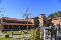 De kerk van Byzantium van St Sofia in Ohrid stock afbeeldingen