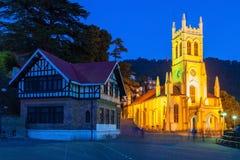 De Kerk van Christus, Shimla royalty-vrije stock fotografie