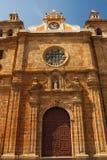 De kerk van Clara van de kerstman in Cartagena stock afbeelding