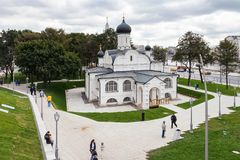 De Kerk van de Conceptie van Anna in Moskou stock fotografie