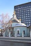De Kerk van Cosma en Damian op Maroseyka-straat, Moskou royalty-vrije stock afbeeldingen