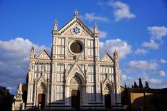 De Kerk van Croce van de kerstman in Florence, Italië Stock Afbeeldingen