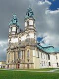 De kerk van de Abdij in Krzeszow in Lager Silesië in Polen Stock Afbeeldingen