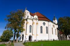 De Kerk van de bedevaart van Wies stock afbeelding