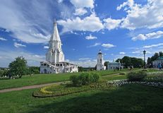 De Kerk van de Beklimming (1532), Kolomenskoye, Moskou, Rusland Royalty-vrije Stock Foto's