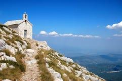 De kerk van de berg Stock Afbeeldingen