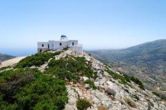 De kerk van de bergtop Stock Foto's