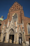 De Kerk van de Dominicaanse Fraters in Krakau Polen Royalty-vrije Stock Afbeelding