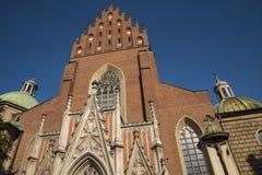 De Kerk van de Dominicaanse Fraters in Krakau Polen Royalty-vrije Stock Foto's