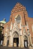 De Kerk van de Dominicaanse Fraters in Krakau Polen Royalty-vrije Stock Fotografie
