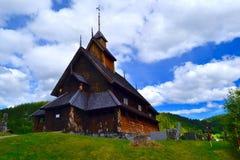 De Kerk van de Eidsborgstaaf in Noorwegen, Telemark Stock Foto's