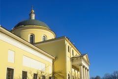 De kerk van de Grote Beklimming, de architect A G Grigoryev, 1848 Moskou, de straat van Bolshaya Nikitskaya stock afbeeldingen