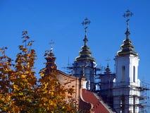 De kerk van de herfst Royalty-vrije Stock Foto