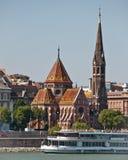 De Kerk van de Hervorming van Budai, Boedapest, Hongarije Stock Afbeeldingen