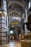 De Kerk van de kathedraal - Siena, Ital Stock Foto