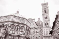 De Kerk van de Kathedraal van Duomo en Doopkapel, Florence Royalty-vrije Stock Foto's