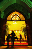 De kerk van de kerstavond Royalty-vrije Stock Foto's