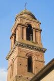 De Kerk van de klokketoren. Della Pieve van Citta. Umbrië. Stock Afbeelding