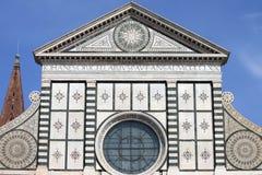 De kerk van de Korte roman van Santa Maria in Florence Stock Afbeeldingen